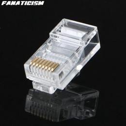 Venta al por mayor de Fanaticismo Alta calidad RJ45 RJ-45 CAT5 Conector de red modular 8P8C 8 Pin 8 Contactos Rj45 Lan Conector modular