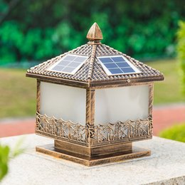 $enCountryForm.capitalKeyWord Canada - Solar power supply led post light outdoor LED lawn decoration light landscaping solar led garden light post lamps sensor functions