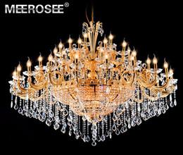 $enCountryForm.capitalKeyWord UK - Gorgeous Crystal Chandelier Light Fixture Classic Golden Hotel Project Large Crystal Lamp Lustres Lighting 100% Guarantee