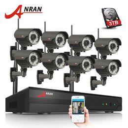 $enCountryForm.capitalKeyWord Australia - ANRAN Plug And Play 8CH NVR WIFI CCTV System P2P 1080P H.264 HD Zoom 2.8mm-12mm Lens Home Security Wireless IP Camera 3TB HDD Optional