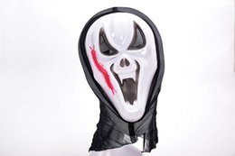 Robe Pvc Unisexe Pas Cher-Hot Sale New Halloween Mask Masquerade Latex Party Robe Skull Ghost Scary Scream Mask Face Hood Unisexe