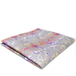 $enCountryForm.capitalKeyWord NZ - AH04 Light Gray Multicolor Floral Silk Jacquard Woven Acceossories Classic Mens Hanky Fashion Pocket Square