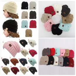 92ec94bf954 Beanies hats cap online shopping - Parents Kids CC Hats Baby Moms Winter  Knit Hats Warm