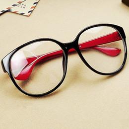 d661e1a544c Wholesale-high quality glass women fashion sunglasses big black box empty  myopia and Arale circle flat mirror plate Wholsale