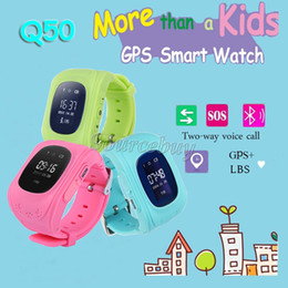 child gps tracker bluetooth smart watch NZ - Q50 Smart Watch Child Kid GPS Tracker Bluetooth Smartwatch Wristwatch Remote Monitor LBS Double Location SOS Safe Kids Children Best Gift