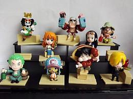 $enCountryForm.capitalKeyWord Canada - 9Pcs Lot Anime Figure One Piece The New World Luffy Roronoa Zoro Sanji Chopper Nami Boa Hancock PVC Action Figures
