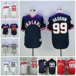 ... 2017 Cleveland Indians Jerseys 99 Ricky Vaughn 1974 1976 Turn Back The  Clock Baseball Jerseys Retro ... 909daf145