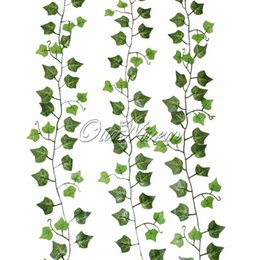 $enCountryForm.capitalKeyWord Australia - Wholesale-1pc Fake Vines Hanging for Wedding Green Leaves Silk Flower Vines Artificial Plants and Flowers for Home Christmas Decoration