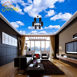 Static heat online shopping - Custom Ceiling Wallpaper Blue Sky And White Clouds Murals For The Living Room Bedroom Ceiling Background Wall Mural Wallpaper