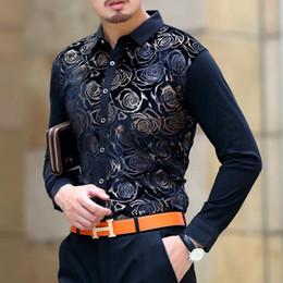 Silk Dress Shirts Canada - Shirts For Men Long Sleeve Velvet Dress Shirt Man Business Chemise Masculina Camisa Vetement Homme Soft Fashion