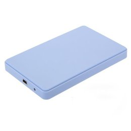 external hard drive enclosure case 2019 - Wholesale- New Arrive Blue External Enclosure Case for Hard Drive HDD 2.5Inch Usb 3.0 Sata Hdd Durable Portable Case dis