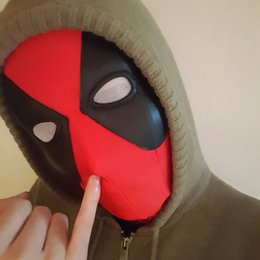 Chinese  Lycra Super Stretch Deadpool Mask Halloween Cosplay Deadpool Tights Hood Party Masks For Adults And Kids manufacturers