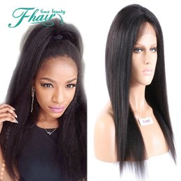 long straight dark brown wigs Australia - 2016 Hot Cheap Selling Long Weave Brazilian Human Hair Soft Yaki Straight Wig With Natural Colour 130% Density Full Lace  Lace Front Wigs