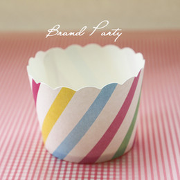$enCountryForm.capitalKeyWord Australia - Cake Mould Muffin Cupcake Mould Colorful Bands Bulk 100pcs lot Baking Paper Cups Cupcake Liners, Cupcake Wrappers