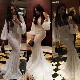 $enCountryForm.capitalKeyWord NZ - 2019 Modest Lace Muslim Kaftan Long Sleeve Mermaid Wedding Dresses High Neck Long Sleeve Fishtail Bridal Maid Dress yousef aljasmi