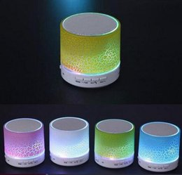 usb flash drive player speakers Canada - A9 Smart LED Light Crack Mini Wireless Bluetooth Speaker Portable Bluetooth Stereo Speaker Support TF Card USB Flash Drive FM