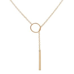 Gold bar pendant necklace suppliers best gold bar pendant necklace gold color brass bar circle necklaces pendants collares mujer fashion chocker necklace women bijoux jewelry colar jl 260 gold bar pendant necklace deals aloadofball Image collections