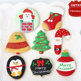 $enCountryForm.capitalKeyWord NZ - 7pcs Christmas Decoration Tree Bell patisserie reposteria Moldes Metal Cookie Cutter Fondant Cake Tools Biscuit Pastry Shop Kitchen Bakery