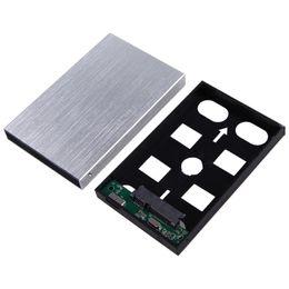 AtA hArd drive usb online shopping - USB External HDD SDD Enclosure Inch SATA Hard Disk Drive Aluminum Caddy Case w Cable for quot Serial ATA HDD SSD