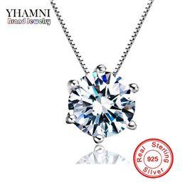 Discount single diamond pendant necklace 2018 single diamond 2018 single diamond pendant necklace yhamni high quality 15 ct single clear cz diamond 925 sterling aloadofball Images