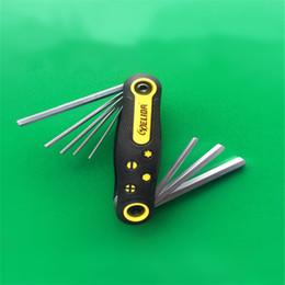 Hex key tool online shopping - Folding Six Angle Spanner Hexagon Hex Torx Allen Key Wrench Set Tool Kit