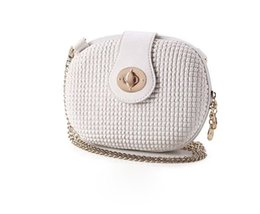 dot string 2018 - Female bag new winter one shoulder aslant laptop cosmetic chain bag circular packages priced cheap dot string