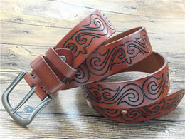 $enCountryForm.capitalKeyWord Canada - 2017 Unique Design Quality Mens Retro Style Belt Patchwork Genuine Leather Clasp Buckle Casual Belts for Men Jeans
