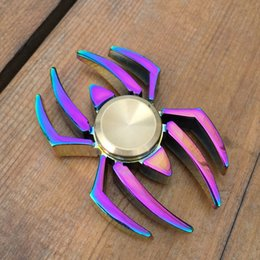 Hand spinner pk online shopping - Colorful Spider Tri Spinner Fidget Spinner Hand Spinner Bass Bearing Rotation Time Long Anti Stress Toys Focus Gyroscope Toy PK Ircon Man