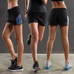 Shorts De Gym Sportive Pas Cher-2017 Rugged Limited Women Gym Shorts Women's Sports Shorts de formation Quick-drying Woven Running Fitness Yoga Respirant Loose
