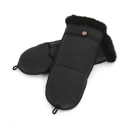 $enCountryForm.capitalKeyWord NZ - Wholesale- New Fashion Half Finger Gloves 100% Sheepskin Fur for Women Genuine Leather Fur Winter Warm Gloves Mittens Black Red Pink Gloves