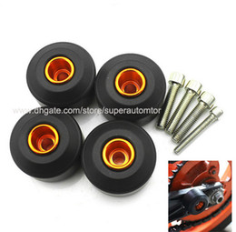 ktm front UK - Motorcycle Front and Rear Wheel Frame Sliders Set CNC Aluminum Motocross Crash Pads Fairing Protectors for KTM Duke 125 200 390