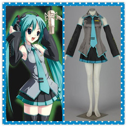 anime hatsune miku costume 2021 - Anime 10pcs Vocaloid Family Hatsune Miku Cosplay Costume set