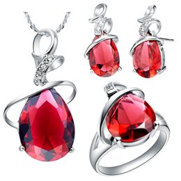China NEW platinum suit set of 925 sets of sterling silver set of new foreign trade semi precious stones cheap precious stones jewelry sets suppliers