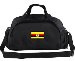 Logo Arts Canada - Uganda duffel bag Soccer team logo tote Outdoor portable shoulder luggage Football duffle Handle backpack Sport sling handbag