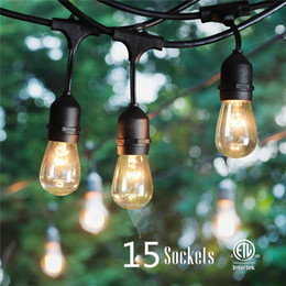 Free Shipping Decorative Outside Led String Lights For Patio Porch Include  15 Pcs Led Bulb Waterproof SJTW 18AWG From Factory