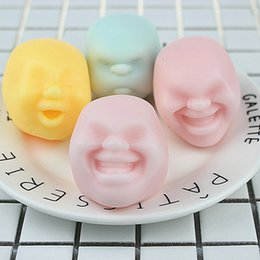 funny face dolls 2019 - New Super cute Colorful Human Face shape Toy Human face vent doll Funny decompression toys IA613 cheap funny face dolls