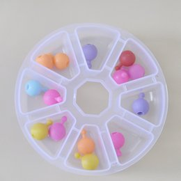 plastic round gift boxes NZ - Wholesale Boxes Mini 8 Grids Rhinestone Gems Plastic Box Round Storage Box Case Jewelry Bead Makeup Clear Organizer Gift Factory Drop