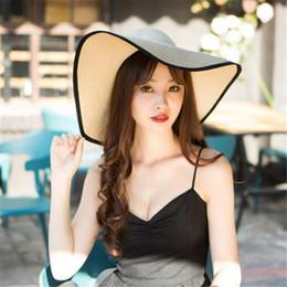 $enCountryForm.capitalKeyWord Australia - Fashion Folding Church Hat for Women Foldable Floppy Sun Caps Wide Brim Summer Beach Straw Hats Outdoor Elegant Accessories Gift