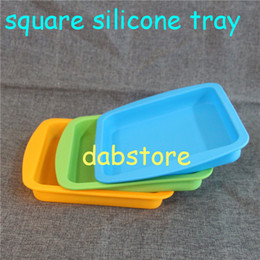 Best dishes online shopping - Best selling square Pan Non Stick Silicone Container Concentrate Oil BHO dish with