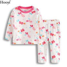 f1ab7712dc Pink Butterfly Baby Girls Sleepwear Cotton Long Sleeve Autumn Newborn Sleep  SetS Children Pajamas Long Sleeve Tee Shirts Pants Pyjamas