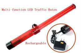 Baguettes Étanches Pas Cher-Rechargeable Style Outdoor Waterproof Safety LED Traffic Baton Signal Avertissement Clignotant Wand ref baton
