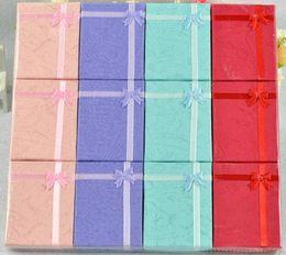 Venta al por mayor de Colores surtidos Sistemas de la joyería Caja de presentación Collar Pendientes Anillo Caja 5 * 8 Embalaje Caja de regalo G400