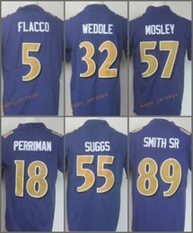 mens rush color limited jersey 5 joe flacco 18 breshad perriman 32 eric weddle 55 terrell suggs 57 cj mosley 89 steve smith sr purple