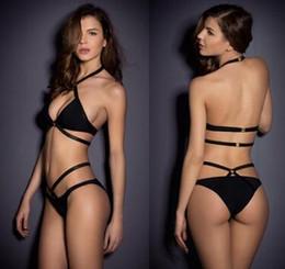 c2055a2eacc16 Strappy Bikini Set Canada - FG1511 Hot Women Sexy Bandage Bikini Set Push-up  Padded