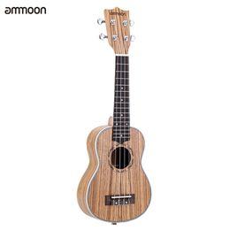 "Discount string instruments kids - Wholesale- ammoon Zebrawood 21"" Acoustic Ukulele 15 Fret 4 Strings Stringed Musical Instrument Suitable for Both Ki"