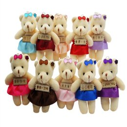 $enCountryForm.capitalKeyWord Canada - Kids Gift 12pcs lot PP Cotton Kid Toys Plush Doll Mini Small Teddy Bear Flower Bouquets Bear For Wedding