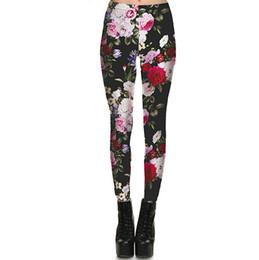 $enCountryForm.capitalKeyWord UK - Flower peony pants Bloom opening retro tight Women gym clothing Leggings sport wear Fitness training sportwear Exercise trousers