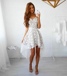 9c286623b Europa y los Estados Unidos nuevo vestido sexy de primavera y verano con  encaje sin mangas fiesta de moda con vestido de noche irregular
