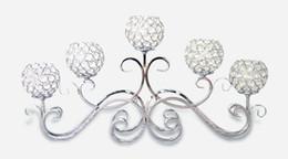 $enCountryForm.capitalKeyWord Australia - Gold Silver Plated 5 Head Vintage Candlestick Crystal Table Candelabras Candle Decoration