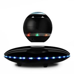 Magnetic levitating bluetooth speaker online shopping - LED Portable Magnetic Levitating Floating Bluetooth Speaker Magnetic suspension wireless for smart phones